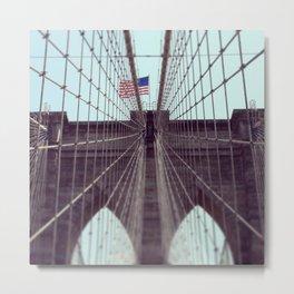 Pont De Brooklyn  Metal Print