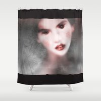 lolita Shower Curtains featuring MonGhost V (lolita) by LilaVert