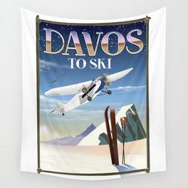 Davos ski poster Wall Tapestry