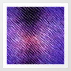 Crystals Reflection Art Print