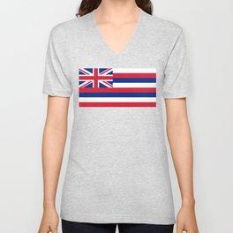State flag of Hawaii Unisex V-Neck