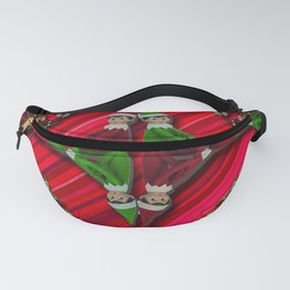 Christmas Tree Candy Cane Elf Fanny Pack