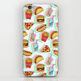 Rainbow Fast Food iPhone Skin