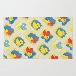 Rubber Duck Monoprint Rug