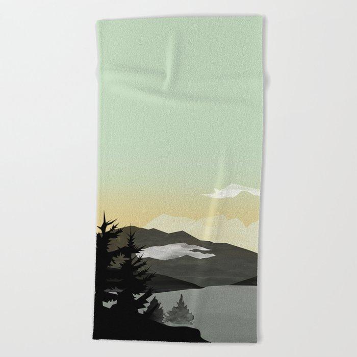 Misty Mountain II Beach Towel