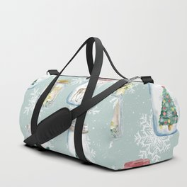 Christmas Jars Mint Duffle Bag