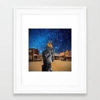 western Framed Art Prints featuring Western by Cs025