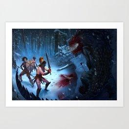 Den of the Ogrelion Art Print