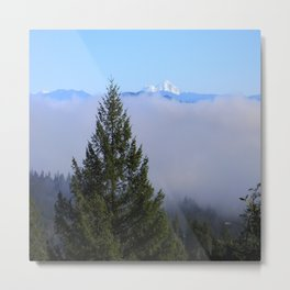 Beyond the fog is Mount Lassen.... Metal Print