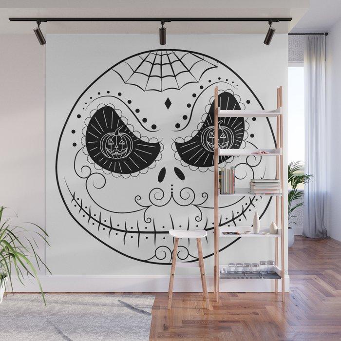 Jacks Skull Sugar Vector Mexican Skull Wall Mural By Beatrizxe