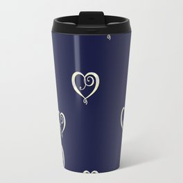 Polka Heart Party Travel Mug
