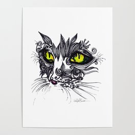 Intense Cat Poster