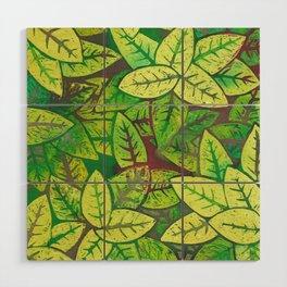 Spring leaves Wood Wall Art