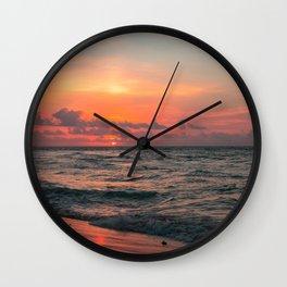 Hawaii sunset #society6 #decor #buyart Wall Clock