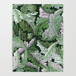 Art Nouveau William Morris Green Acanthus Leaves Poster