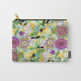 Summer Soft Floral Carry-All Pouch