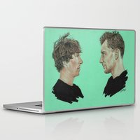 tom hiddleston Laptop & iPad Skins featuring Benedict Cumberbatch and Tom Hiddleston by Cécile Pellerin