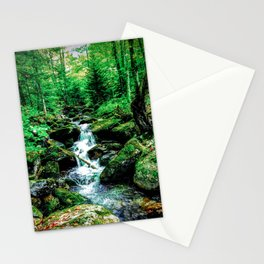Falling Stream Stationery Cards