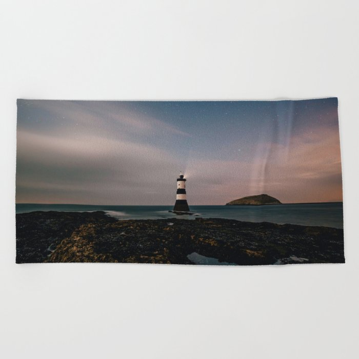 Evening Lighthouse Beach Towel