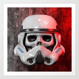 Stormtrooper Skull 01 Art Print