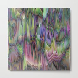 Arise Green Purple Abstract Metal Print