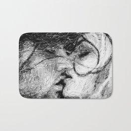 Abstract Ink Kiss Bath Mat
