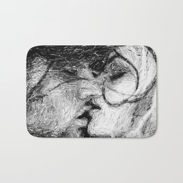 Abstract Ink Kiss Bath Mat