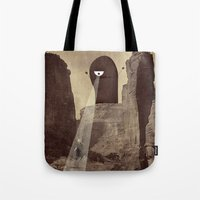 doom Tote Bags featuring doom! by Pope Saint Victor