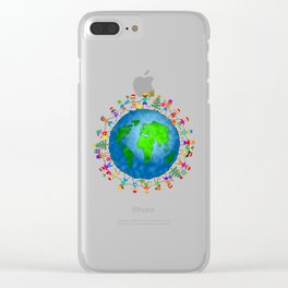 Christmas World Kids Clear iPhone Case