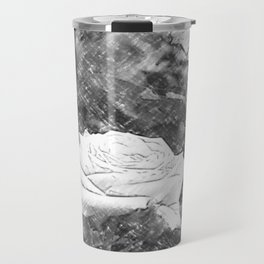 Pink Roses in Anzures 5 Charcoal Travel Mug