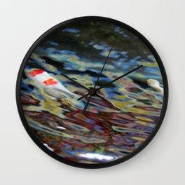 Watercolor Koi Wall Clock