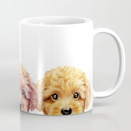Toy poodle friends mix, Dog illustration original painting print Coffee Mug