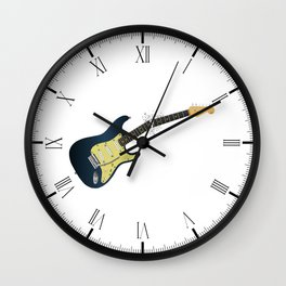 Clean Guitar Neck Break Wall Clock