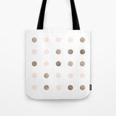 Blush Pink Modern Dots Tote Bag