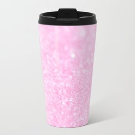 Pink Shiny Glitter Abstract Bokeh #decor #society6 Travel Mug
