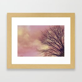 WARM TREES _ keep the warm from the colors of fall Framed Art Print