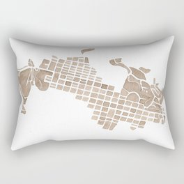 Aspen Colorado watercolormap Rectangular Pillow