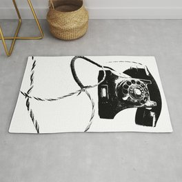 Cable and phone Rug
