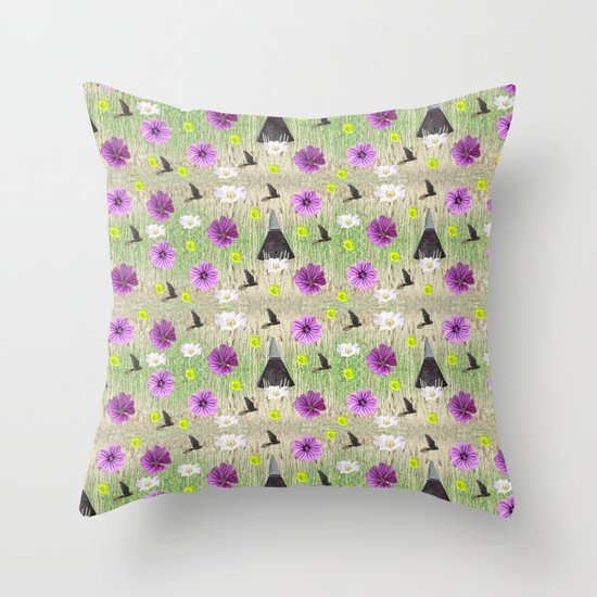 Garden of England Throw Pillow