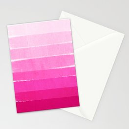 Luca - abstract painted ombre pink stripes striped minimalist art decor Stationery Cards