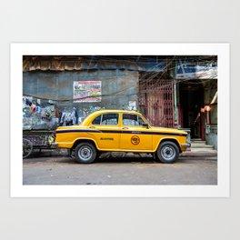 Taxi India Art Print