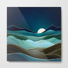 Moonlit Vista Metal Print