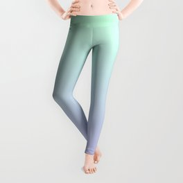 Mint Green and Lavender Ombre Leggings