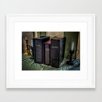 bible Framed Art Prints featuring The Bible by Adrian Evans