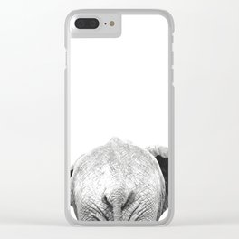 Black and white elephant animal jungle Clear iPhone Case