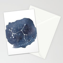 sagittarius constellation zodiac Stationery Cards