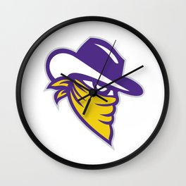 Bandit Covered Face Icon Wall Clock
