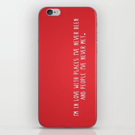 Places & People I've never met ♡ iPhone Skin