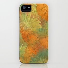 Floral Orange-Yellow-Green iPhone Case