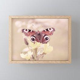 Butterfly Love in soft pastell Framed Mini Art Print